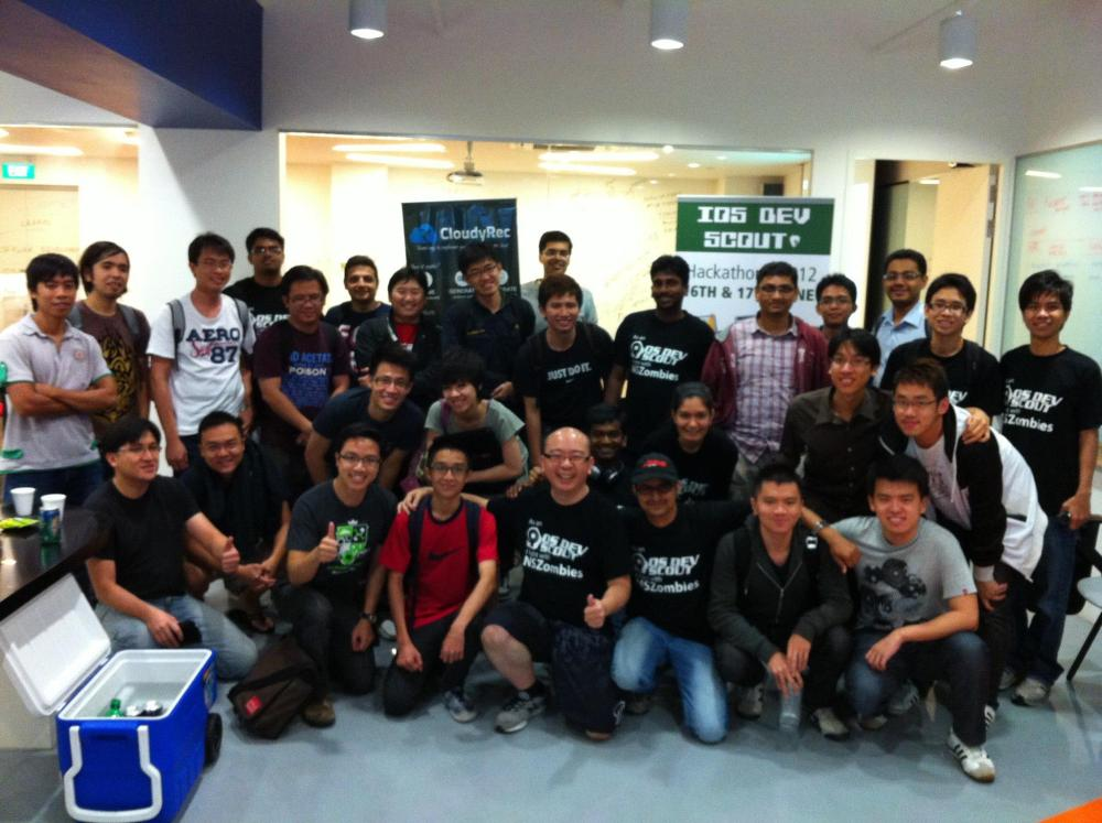 iOS Dev Scout Hackathon 2012 – Demo Day Group Photo